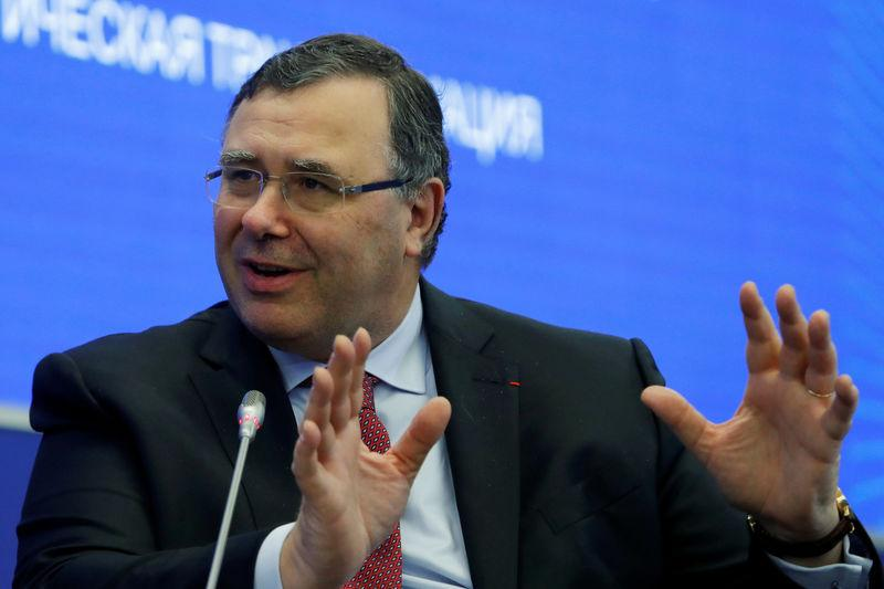 FILE PHOTO: Total CEO Pouyanne attends a session of the St. Petersburg International Economic Forum