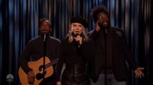 Fergie interrupts The Roots to sing about her 'Humps' on 'The Tonight Show'