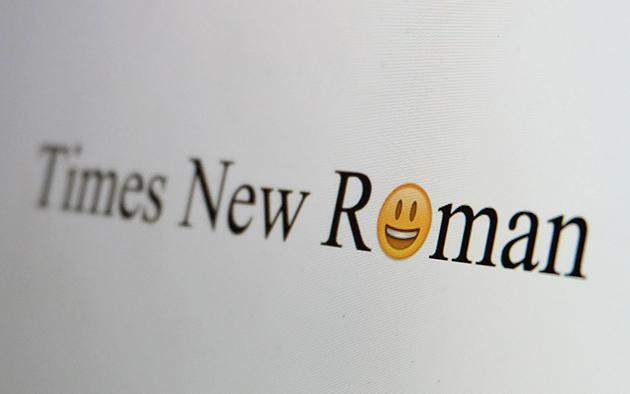 The owner of Helvetica and Times New Roman just bought some emoji