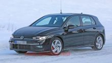 Eighth-generation VW GTI spied with minimal camo in winter testing