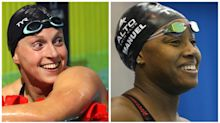 Katie Ledecky, Simone Manuel enter first top-level swim meet in one year