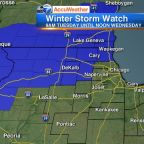 Chicago Weather: Winter Storm Watch issued for several northwestern counties; up to 8 inches of snow possible