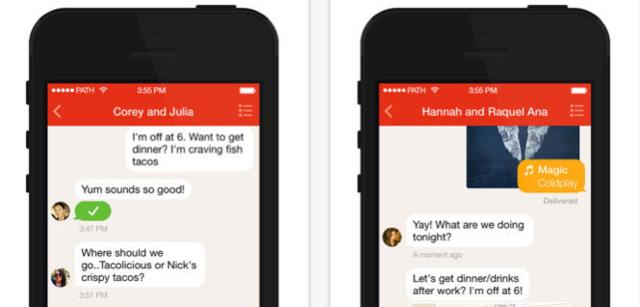 Path gets updates, stand-alone message app