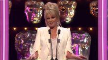 Joanna Lumley's 'train wreck' BAFTA jokes are getting brutally panned