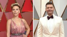 Scarlett Johansson wiegelt Ryan Seacrest auf dem roten Teppich ab