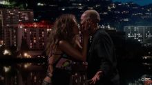 Lena Waithe And Halle Berry Smooched On Jimmy Kimmel Live