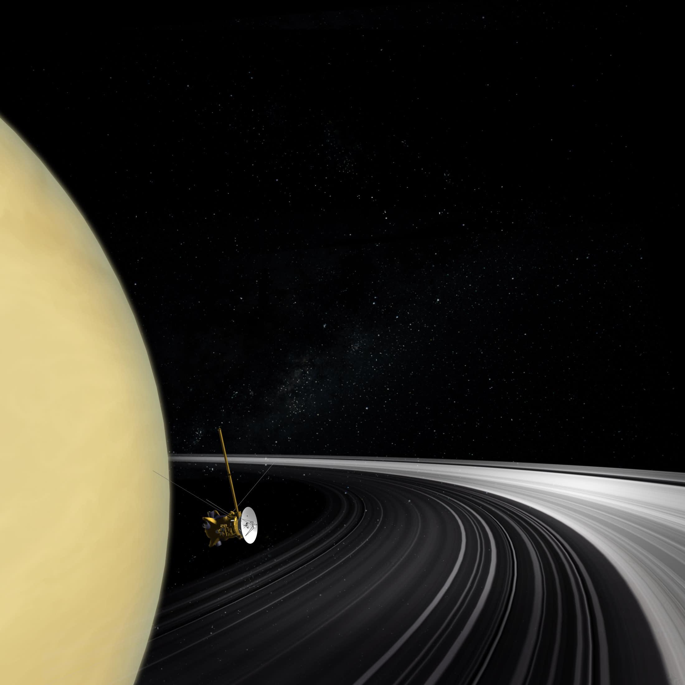 saturn cassini spacecraft - HD2200×2200