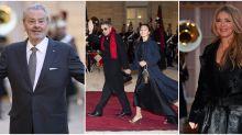 Dîner d'État à l'Élysée: Hélène Rollès, Alain Delon et Jean-Michel Jarre à la table du président chinois