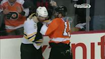 Johnny Boychuk and Scott Hartnell scrap