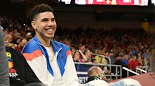 Watch LaMelo Ball, potential Warriors draft target, complete wild alley-oop
