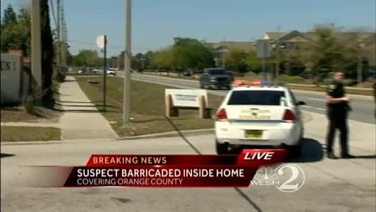 Deputies surround barricaded man in Orange County