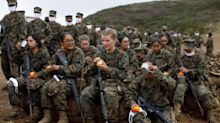 Female US Marines take on gruelling 'Crucible training' for first time