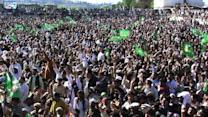 Pakistan's Sharif holds huge election rally