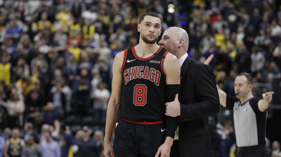 No, Zach LaVine wasn't screaming at Jim Boylen during their loss to the Thunder