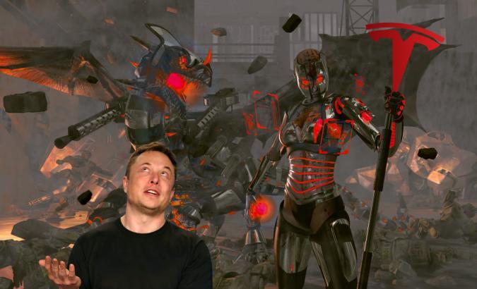 Leafsomen via Getty Images (Background) Joe Skipper / Reuters (Elon Musk)