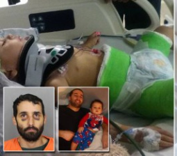Toddler Left in Body Cast After His Dad Tried to Kill Him by Intentionally Crashing Car: Cops