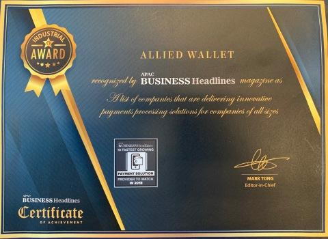 Allied Wallet Recognized for Its Innovative Payment Processing Solutions