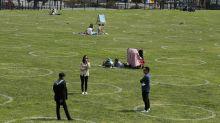 San Francisco llena sus parques de círculos en el suelo por la pandemia