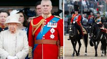Calls for Prince Andrew to be banned from Trooping the Colour event