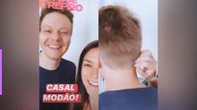 Thais Fersoza mostra corte de cabelo que fez em Michel Teló