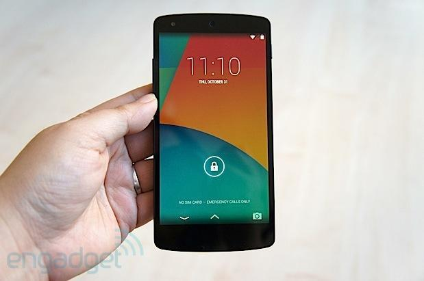 Google announces the Nexus 5 with Android 4.4, on sale today for $349 (hands-on video)