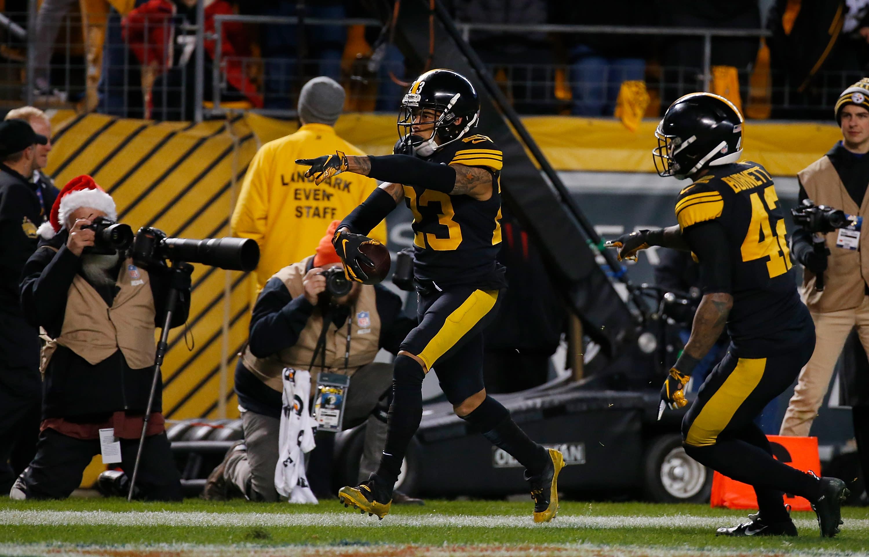 Joe Haden's late red-zone interception of Tom Brady helps secure huge Steelers win over Patriots