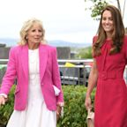 Jill Biden and Kate Middleton met for the first time during a visit to a school in Cornwall