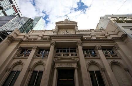 Argentina's Central Bank facade, in Buenos Aires