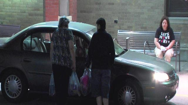 6am: Family member brings clothes to hospital