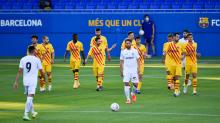 Démbelé marcó el primer gol del Barcelona de Koeman