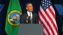 Obama talks gun control in Seattle
