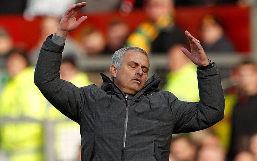 Jose Mourinho shows his frustration - REUTERS