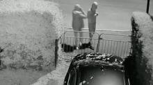 CCTV shows gang of 'jealous and racist' men vandalising BMW