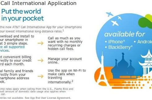AT&T Call International App gets Ma Bell into the mobile VoIP market