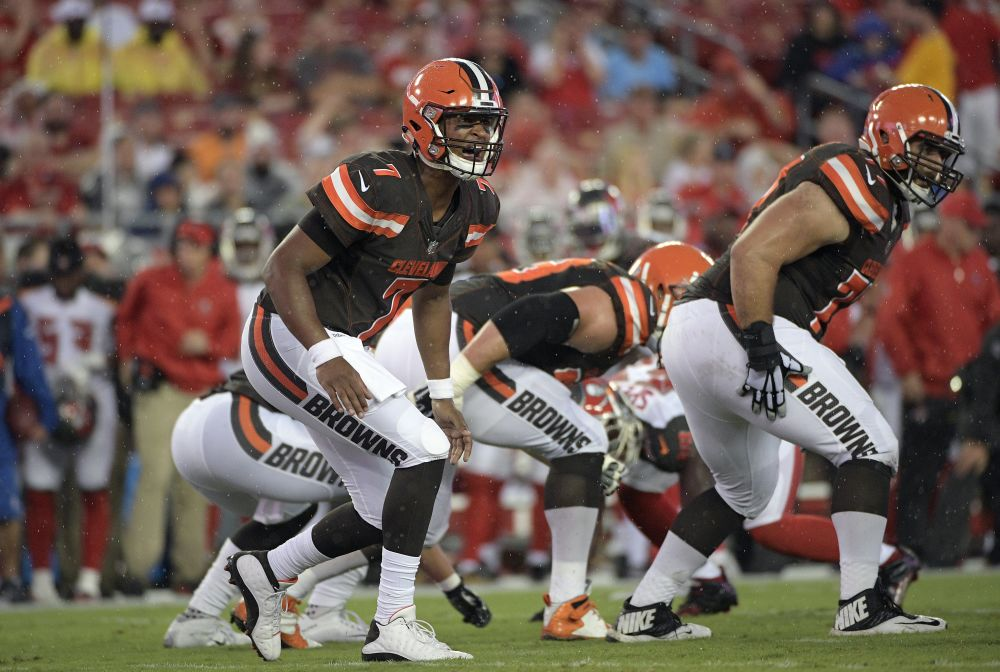 DeShone Kizer had some impressive plays in his start against Tampa Bay on Saturday night. (AP)