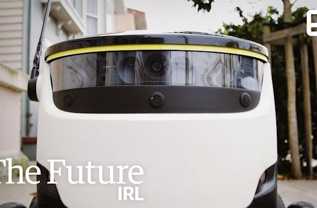 The Future IRL: Deliveries via robot