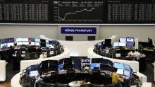 European shares fall as Daimler weighs, Sino-U.S. trade news awaited