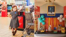 Mum throws Aldi-themed 4th birthday party for daughter who loves the budget store