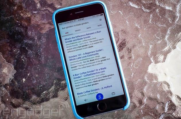 Google search displays results for iOS apps, too