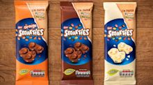Nestle launches three new Smarties bars with eco-friendly packaging