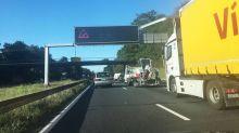Bordeaux: Carambolage entre sept camions sur la rocade
