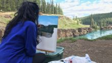 Whitehorse artists get inspired at Miles Canyon