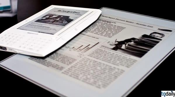 Plastic Logic's e-reader vs Amazon Kindle... fight! (updated with video)