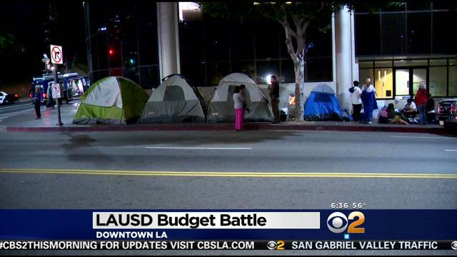 LAUSD Students Camp Out, Plan Protests Over New 2014-2015 Budget