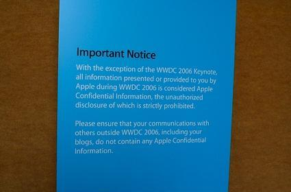 Flickr Find: WWDC is a no blog zone