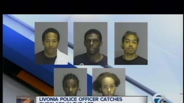 Livonia police officer catches burglars in the act