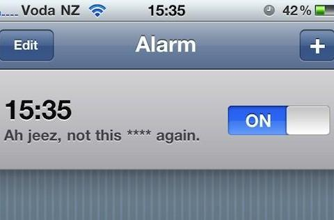 iPhone alarms work fine on 1/1 and 1/2, if you update iOS