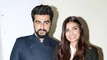 Bollywood stars attend the special screening of 'Mubarakan'