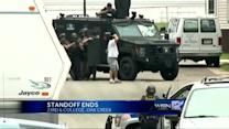 Standoff ends peacefully