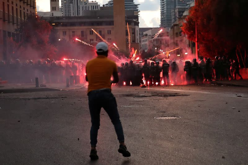 Anti-government protests after Beirut blast